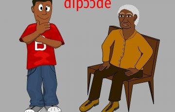 Un vieux assis voit plus loin qu'un jeune debout. Proverbe béninois